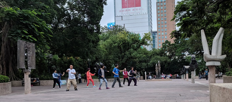 Hong Kong Tai Chi in Kowloon Park
