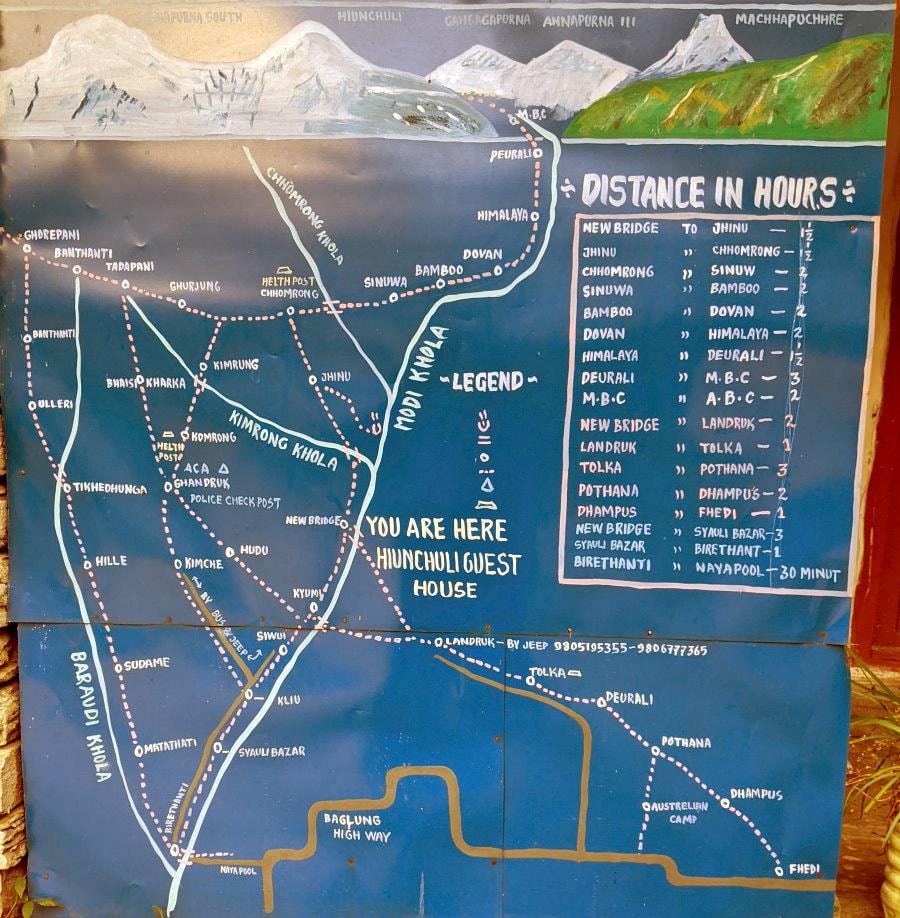 Jhinu Room on the Annapurna Base Camp Trek