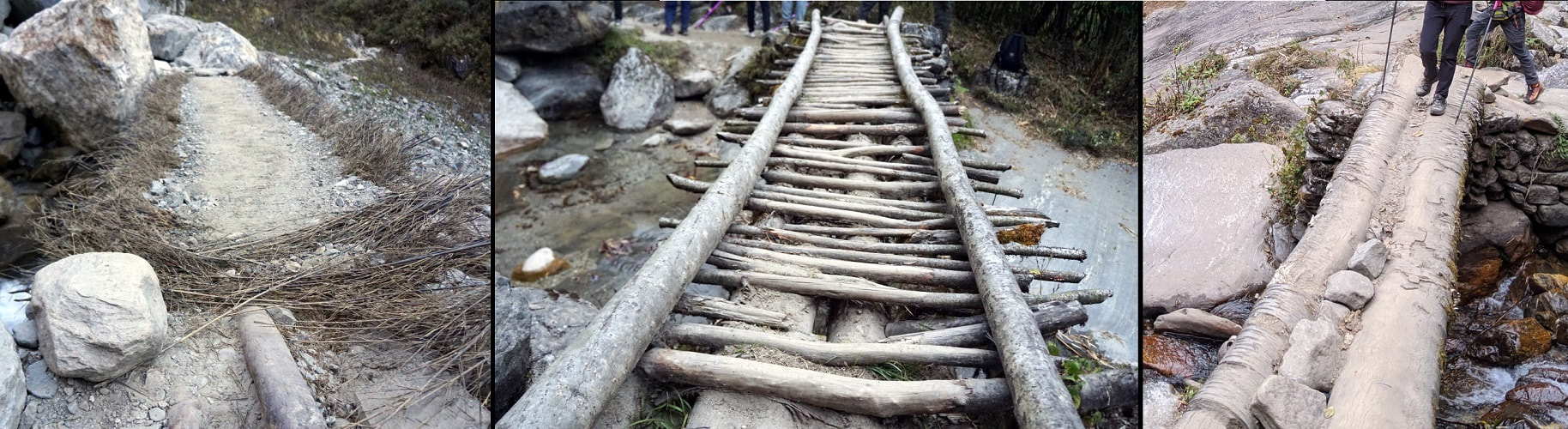 Wood Bridges on the Annapurna Base Camp Trek