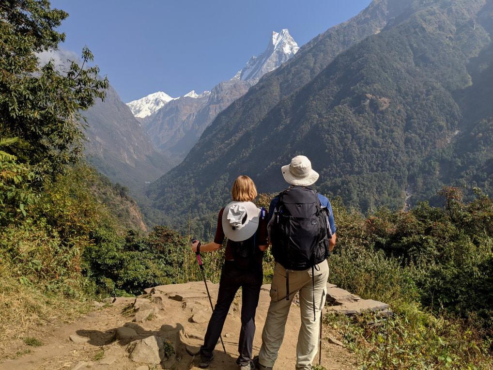 View of Fish Tail between Chhomrong and Himalaya