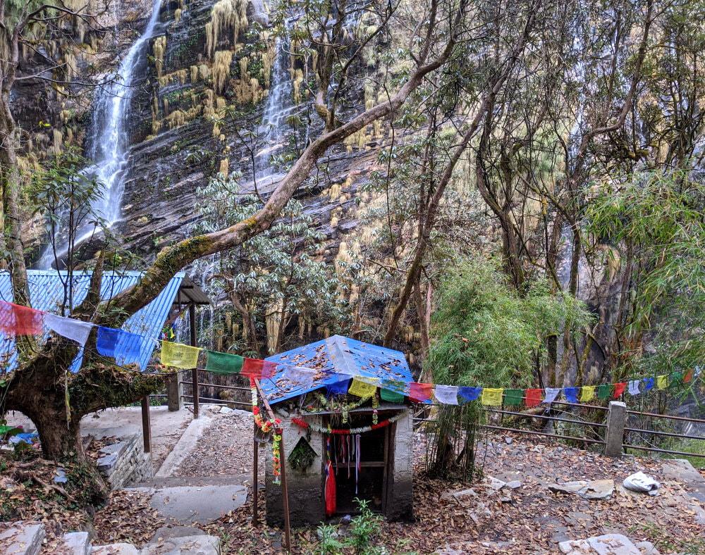 Waterfall Shrine between Dovan and Himalaya