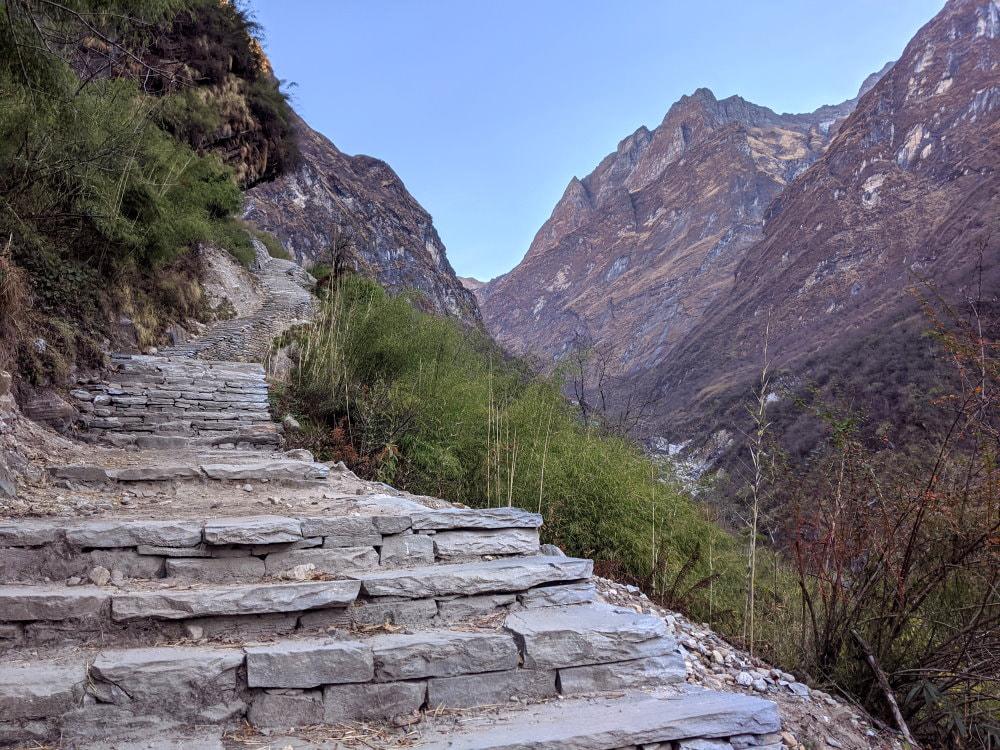 Stone Stairs on the Annapurna Base Camp Trek