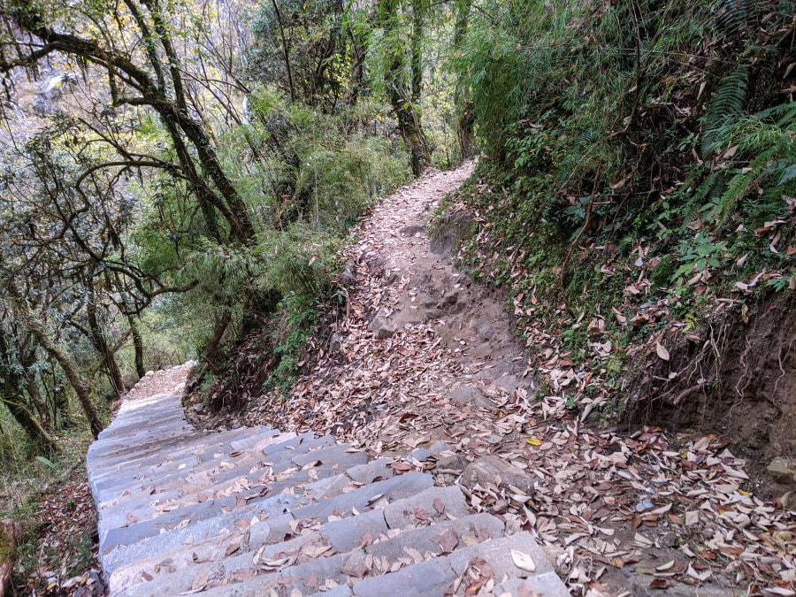 Trail Spit by Waterfall Shrine - ABC Trek Day 5