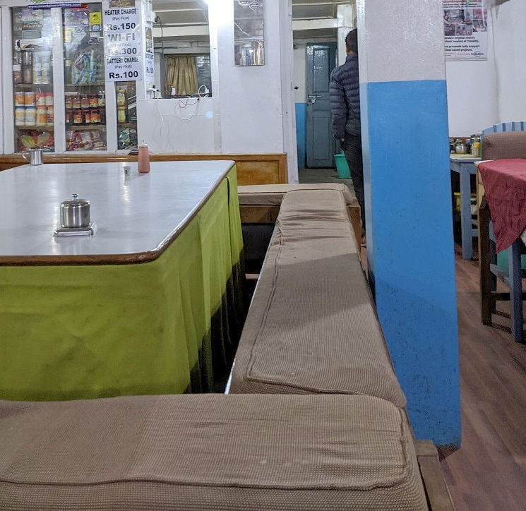 The Dining Room at Himalaya on the Annapurna Base Camp Trek