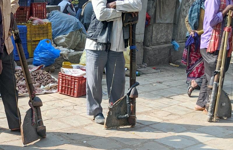 Kathmandu Market - Cotton Processing