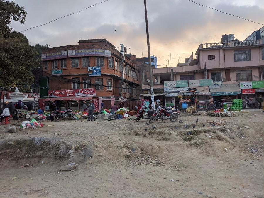 Leaving of Kathmandu on the road to Pokhara