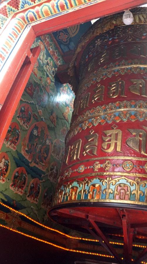 Kathmandu Temple - Giant Prayer Wheel