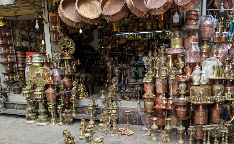 Kathmandu Market - Metal