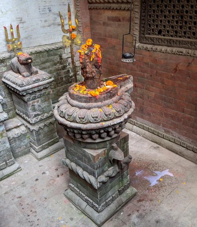 Kathmandu Temple - Milk Offering