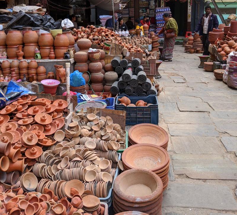 Kathmandu Market - Pottery