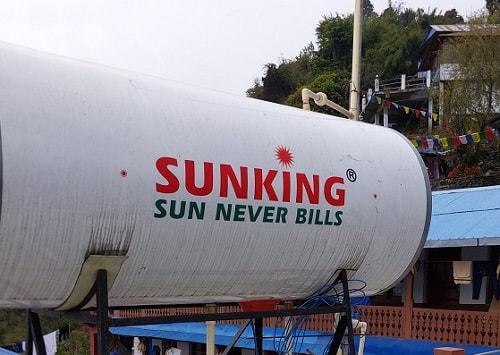 Chhomrong Solar Shower