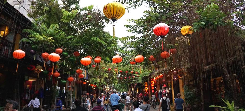 Vietnam - Hoi An - The Lantern Festival, basket boats, a cooking class, and tailors