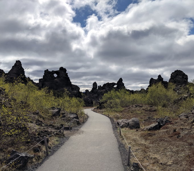 Dimmuborgir Volcanic Formation Stroll or Hike