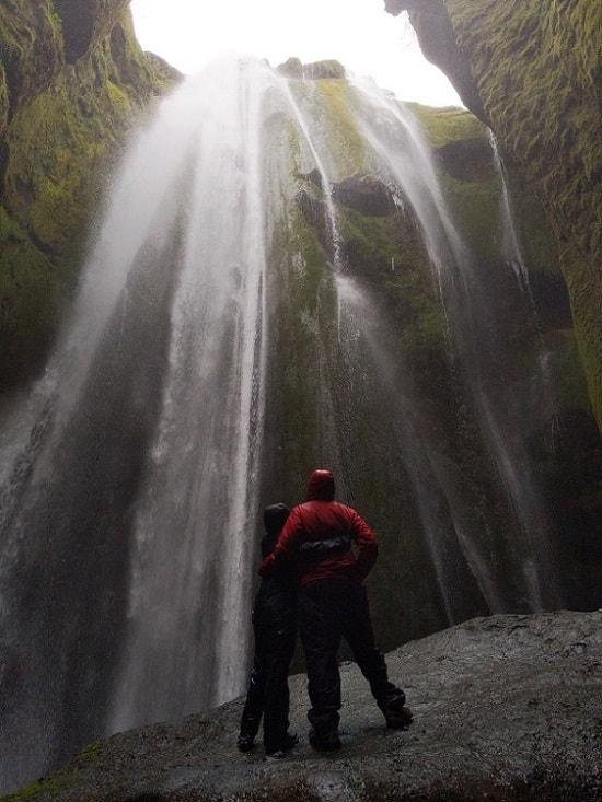 Gljúfrabúi Waterfalls Inside