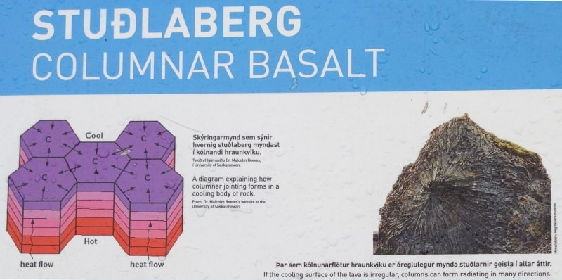 Basalt Column Formation Vatnajökull National Park