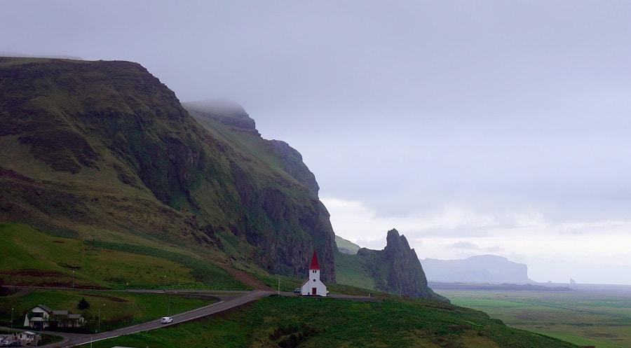 Vik's Church and Mount Hatta